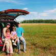 Family car trip on summer vacation — Stock Photo #8968197