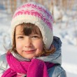 Stock Photo: Little girl winter portrait