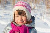 Little girl winter portrait — Stock Photo