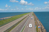 Afsluitdijk dam in Holland (Netherlands) — Stock Photo