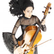 Inspired musician Cello music — Stock Photo