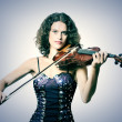 Violinist musician with violin - Foto Stock