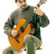 Acoustic guitar playing Guitarist - Foto Stock