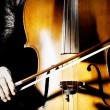 Cello music — Stock Photo