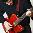 Guitar player electric Guitarist. - Stock Photo