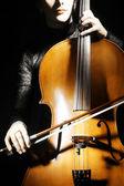 Cello classical musician cellist. — Stock Photo