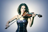 Violinist musician with violin — Stock Photo