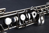 Oboe musical instrument detail — Stock Photo