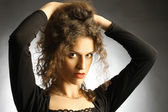 Portrait of beautiful woman elegant brunette — Stock Photo