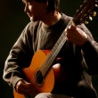Classical guitarist guitar acoustic playing. — Stock Photo