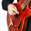 Guitar playing. Guitarist. - Stock Photo