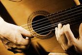 Guitar music art. — Stock Photo