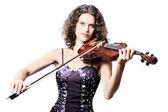 Violinist violin player — Stock Photo