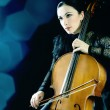 Stock Photo: Cello playing cellist musician