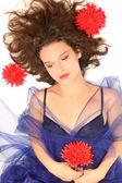 Beautiful melancholic young woman fashion portrait. — Stock Photo