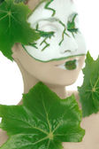 Green plant cosmetics skincare — Stock Photo