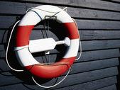 Life buoy preserver ring belt — Stock Photo