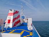 Helipad on a ship boat — Stock Photo