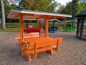 在花园的公园-休息野餐 — 图库照片