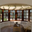 Sunny solarium conservatory sun room — Stock Photo