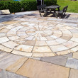 Photo: Display of stone floor tiles circle