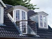 Verticale dakvensters modern klassiek design met een balkon — Stockfoto