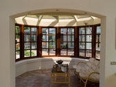 Sunny solarium conservatory sun room — Photo