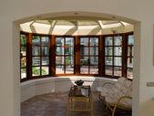 Zonnige solarium conservatorium zon kamer — Stockfoto