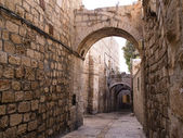 Israel - Jerusalem Old City Alley — Stock Photo