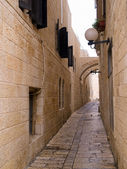 Israel - Jerusalem Old City Alley Jewish quarter — Stock Photo