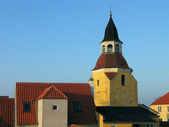 Bell tower Faaborg Denmark — Stock Photo
