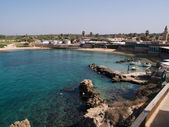 Port of Caesarea Israel Historical landmark — Stock Photo