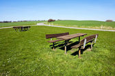 Outdoors Picnic table - perfect relaxing in nature — Stock Photo