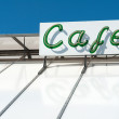 Classic cafe coffee shop neon sign — Stock Photo