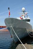 Navy warship frigate — Stock Photo