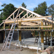 Wood frame construction - Stock Photo