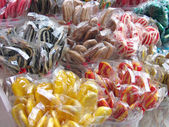 Lollipops in various colors — Stock Photo