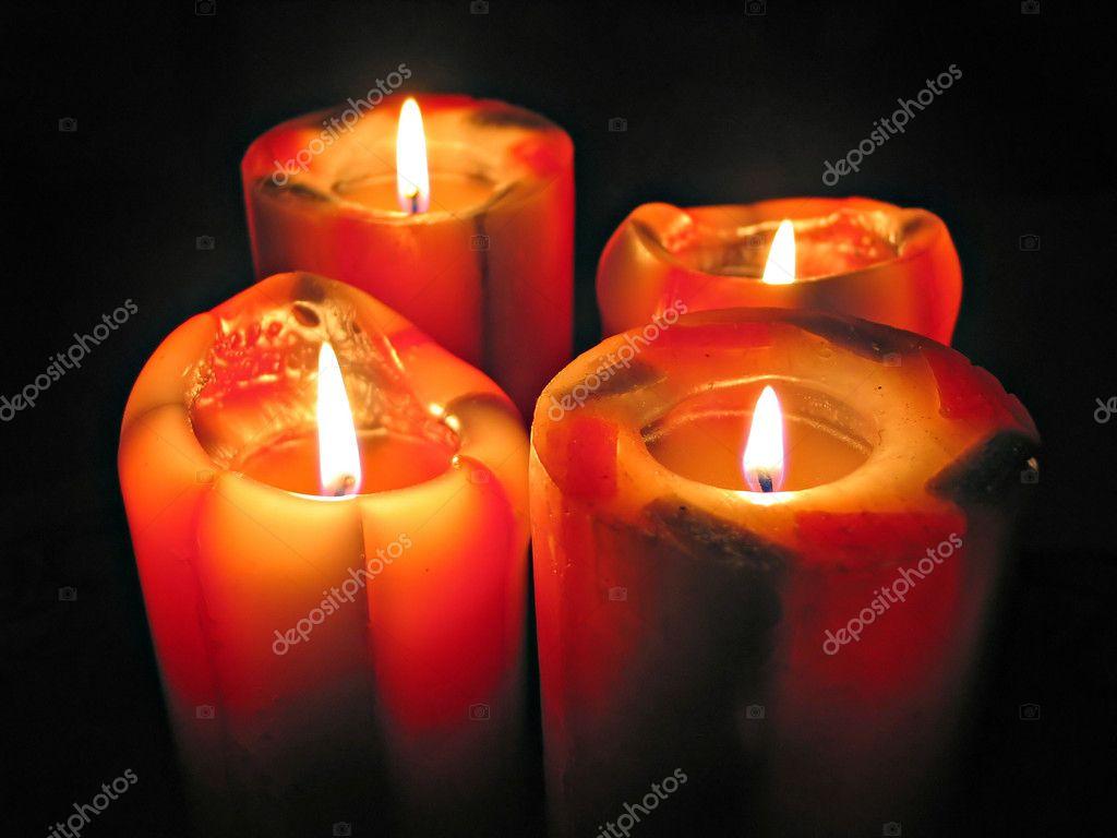 grandes velas decorativas fotografias de stock