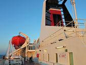一艘渡轮上船船 — 图库照片