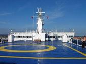 Helipad on a ship — Stock Photo