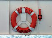 Lifering a bezpečnostní světlo na lodi — Stock fotografie
