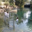 Baptism ceremony Jordan River Holyland — Photo