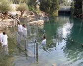 Bautismo ceremonia jordán holyland — Foto de Stock