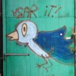 Creative Graffiti on a wall — Stock Photo