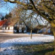 Stock Photo: Farmhouse in winter time - Christmas