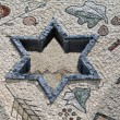 Star of David  in mosaic - Judaism — Stock Photo
