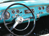 Old classic car dashboard — Stockfoto