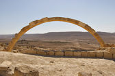 Arch in an ancient desert city Israel — Stock Photo