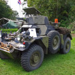 WW2 APC armored personnel carrier - Stock Photo