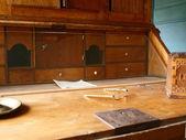 Antique secreter study desk — Stock Photo
